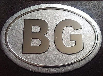 Bulgarian Bulgaria Aluminum BG Country Decal Badge