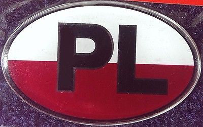 Polish Poland Resin PL Country Decal Badge