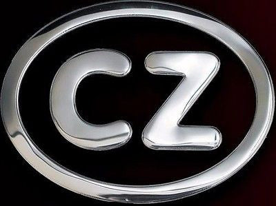 Czechoslovakia Czech Aluminum CZ Country Auto Decal Badge