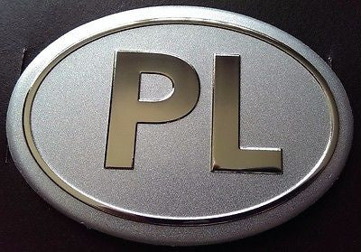 Poland PL Country Decal Badge