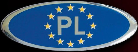 Poland PL Country Badge with Euro Stars