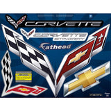 Corvette Crossed Flags Street Grip - Fathead Decal