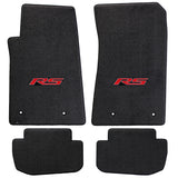 Camaro 2010-2015 4 Piece Floor Mats - Ultimat Lloyds Mats with RS Logo Script: Jet Black