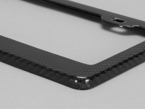 Black Carbon Fiber License Plate Frame