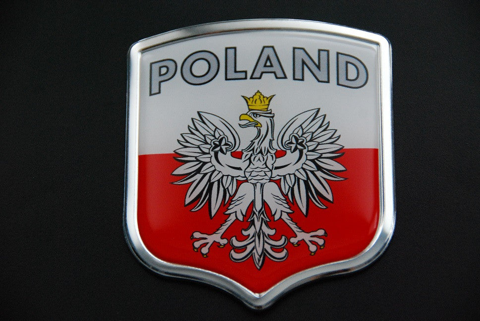 Poland Polska Country Auto Badge Sticker