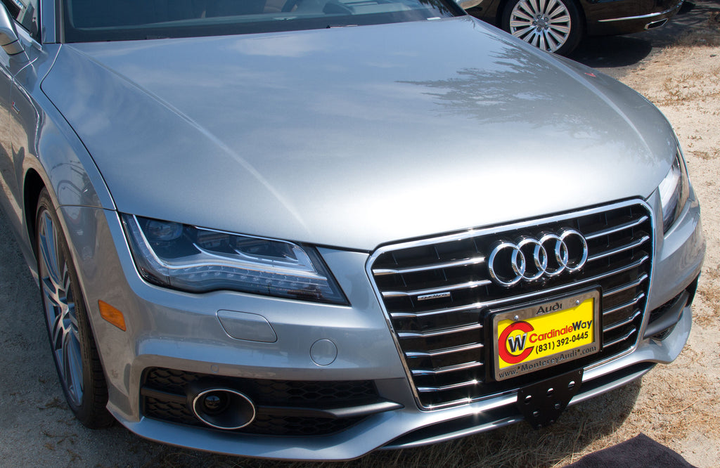 2012 - 2014 Audi A6 and A7 - Quick Release Front License Plate Bracket & 2012 - 2014 Audi A6 and A7 - Quick Release Front License Plate ...