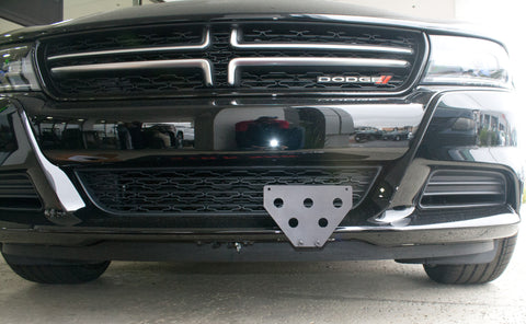 2015-2016 Dodge Charger SXT, R/T with adaptive cruise control - Quick Release Front License Plate Bracket