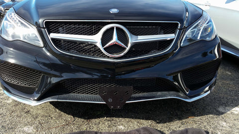 2016 Mercedes E400 Coupe non Sport  - Quick Release Front License Plate Bracket