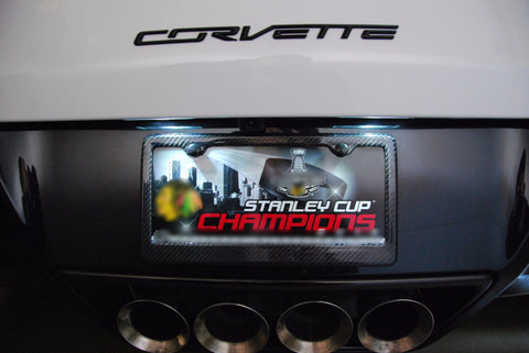 Corvette C7 LED License Plate Lighting