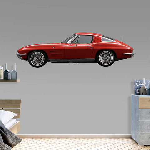 1963 Corvette Stingray  - Fathead Wall Art