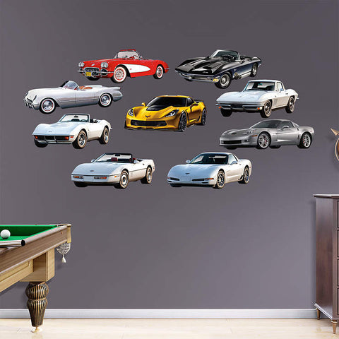 Corvette Generations Collection  - Fathead Wall Art