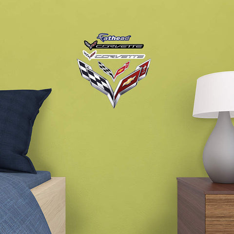 Corvette Crossed Flags Teammate - Fathead Wall Art – Zava ...