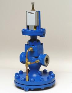 1 in NPT 25 Series Pressure Reducing Valve Complete with Yellow Pilot, Cast Iron 3-30 psig