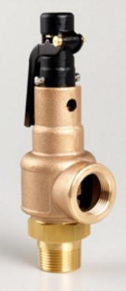 "1 1/2 in x 1 1/2 in NPT x NPT Series 570 Bronze Safety Valve ""G"" Orifice at 75 psig"