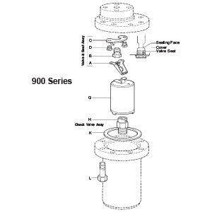 1, 1 1/2 in  923/25 Inverted Bucket Steam Trap Bucket, G