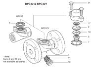 All Sizes  BPC32 Balanced Pressure Thermostatic Steam Trap Capsule & Seat Assembly (SUB), A B C D E