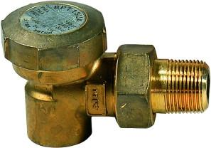 1/2 in NPT BPT13UA Balanced Pressure Thermostatic Angled Connections, Brass, Union Inlet