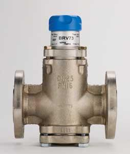 1 1/2 in ANSI 150 BRV73 Direct Operated Pressure Regulator, Ductile Iron, Orange Spring, Range 50-130 psig
