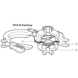 1/2 - 1 1/2 in  BT6 -BH/L Balanced Pressure Thermostatic Steam Trap Element Assembly (Viton Gasket) 3, 5