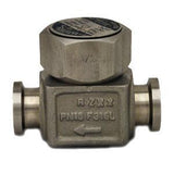 1/2 in Sanitary Clamp BTD52L Clean Steam Trap, Stainless Steel