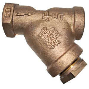 1 1/2 in NPT BT Y-Type Strainer, Bronze, with 60-100 Mesh Screen