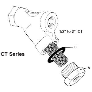 1/2 in  CT Y-Strainer Cap Gasket