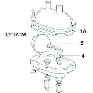1/4 in  FA-150 Liquid Drain Trap Gasket Kit, (Set of 3), 1A