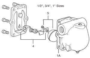 1/2 (FAI-75 & FTI-75), 3/4 & 1  FT-75 Float & Thermostatic Steam Trap Mechanism Assembly, C D E F G