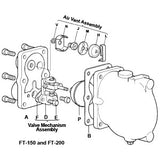 3/4 & 1  FT-150 Float & Thermostatic Steam Trap Mechanism Assembly, D E F