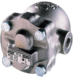 1 in ANSI 150 CA46S-4.5 Liquid Drain Trap, Stainless Steel, PMO 65 psig