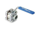 1 1/2 in NPT M10S4 Reduced Bore Ball Valve, Stainless Steel, Complete with Lockable Handle