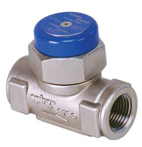 3/8 NPT Cool Blue TD52 Thermo-Dynamic Steam Trap, Stainless Steel, with ENP Finish, Integral Insul Cap