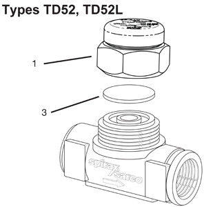1 in  TD52 Thermo-Dynamic Steam Trap Disc, D