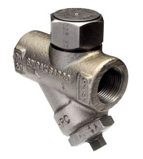 1/2 in NPT TD42H Thermo-Dynamic Steam Trap with Strainer & Blowdown Valve, Stainless Steel, High Capacity Maintainable Steam Trap, with ENP Finish