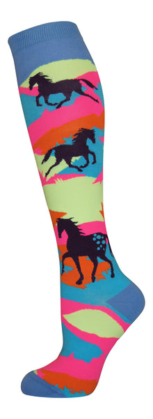 """Appy"" cotton-rich knee socks from lucky7socks.com"