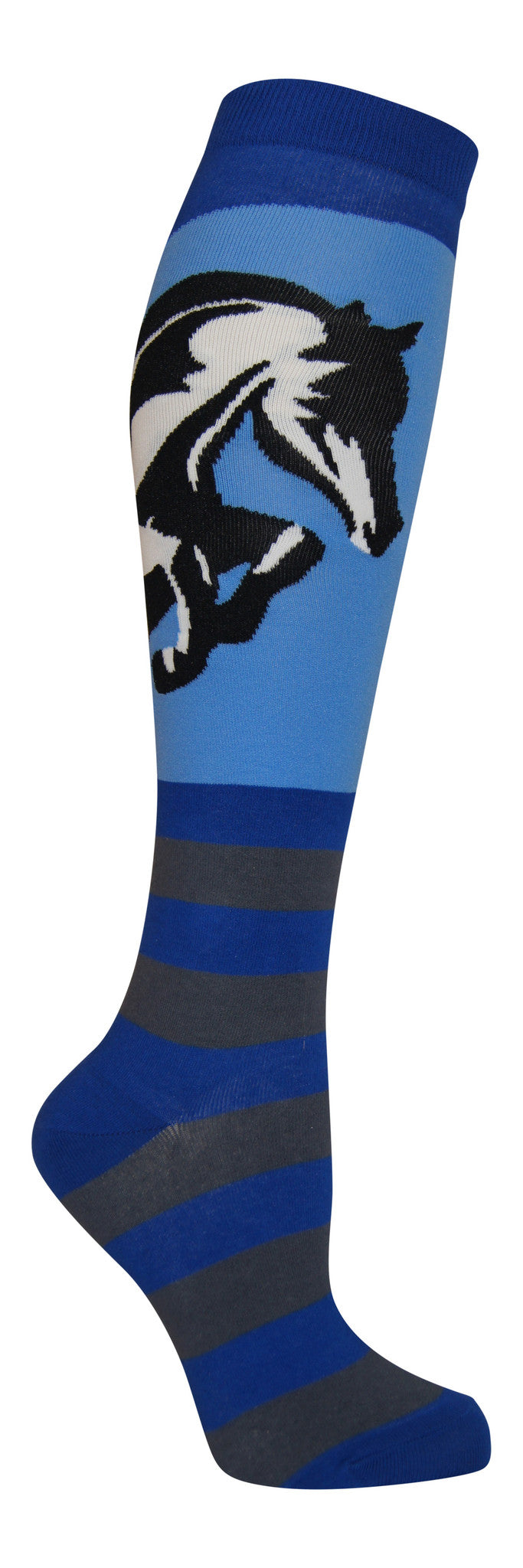 """Striped Jumper"" cotton-rich knee sock from lucky7socks.com"