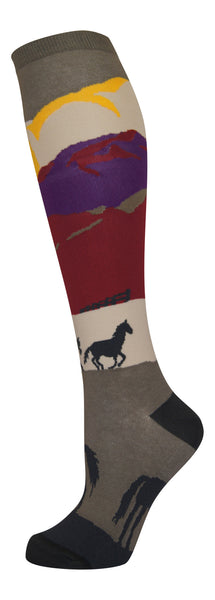 """Sundown"" cotton-rich knee sock from lucky7socks.com"