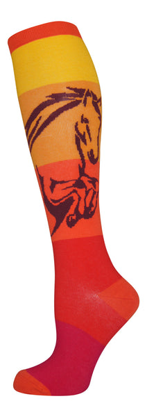 """Sunset Jumper"" cotton-rich knee sock from lucky7socks.com"