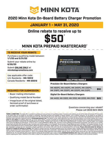 Minn Kota Battery Charger Rebate