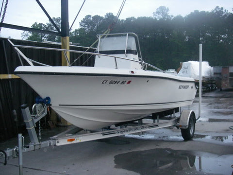 boat with bow rail no trolling motor