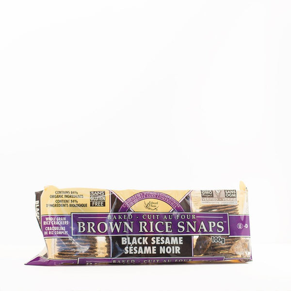 Brown Rice Snaps - Black Sesame