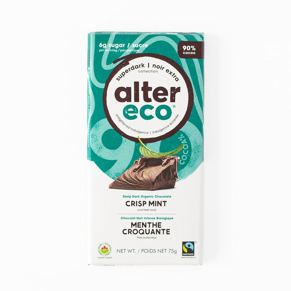 Crisp Mint Dark Chocolate 90% 75g