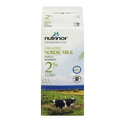 Nordic Milk Partly Skimmed 2% 2L