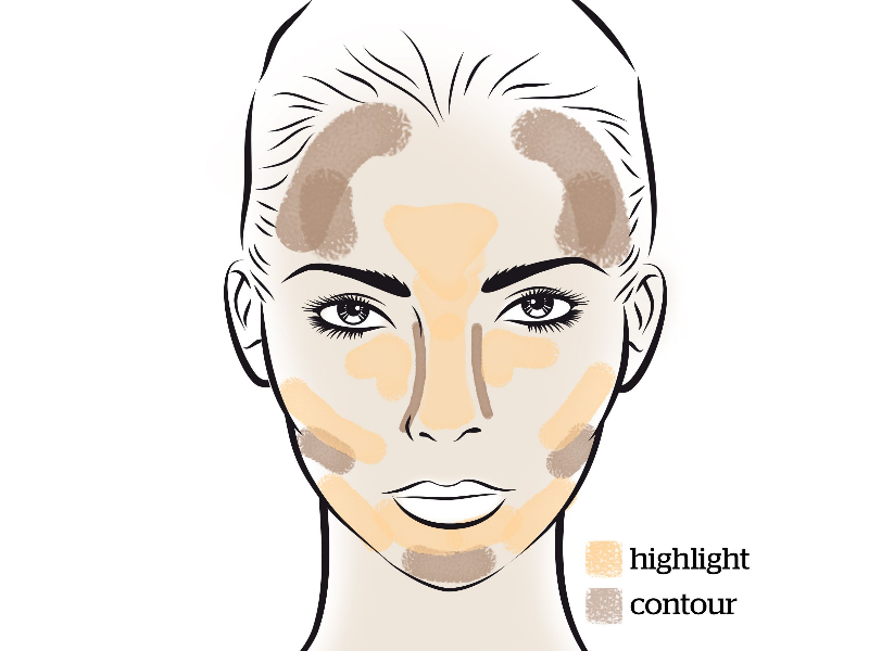 How to Contour According to Heart Shape Face | Beauty Wellbeing