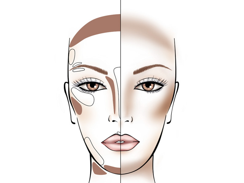 How to Contour According to Long Face Shape | Beauty Wellbeing