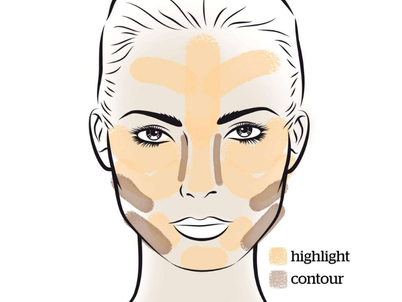 How to Contour According to Square Face Shape | Beauty Wellbeing