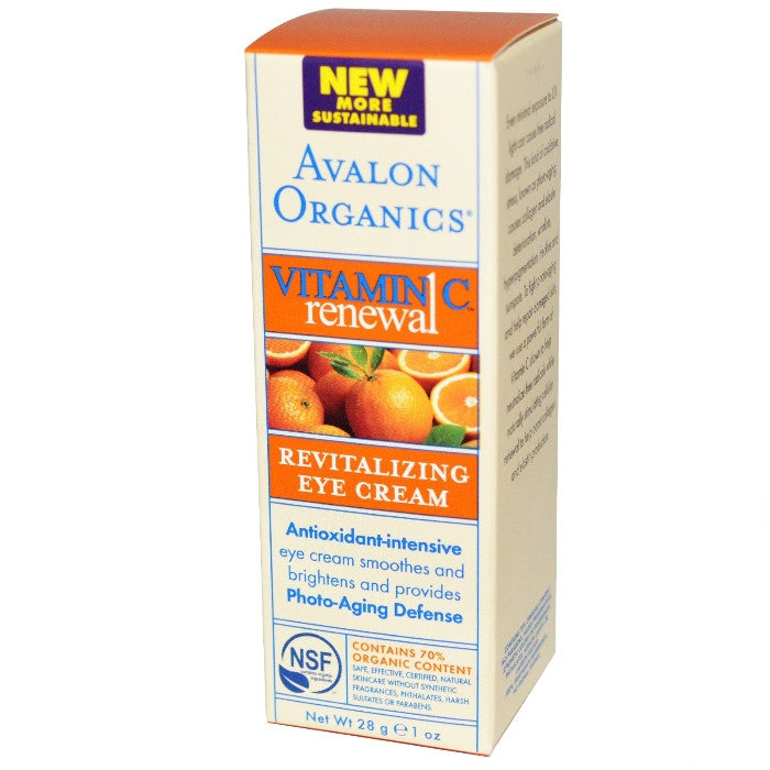 Avalon Organics Vitamin C Revitalizing Eye Cream 26g/1oz / Cream | Beauty Wellbeing