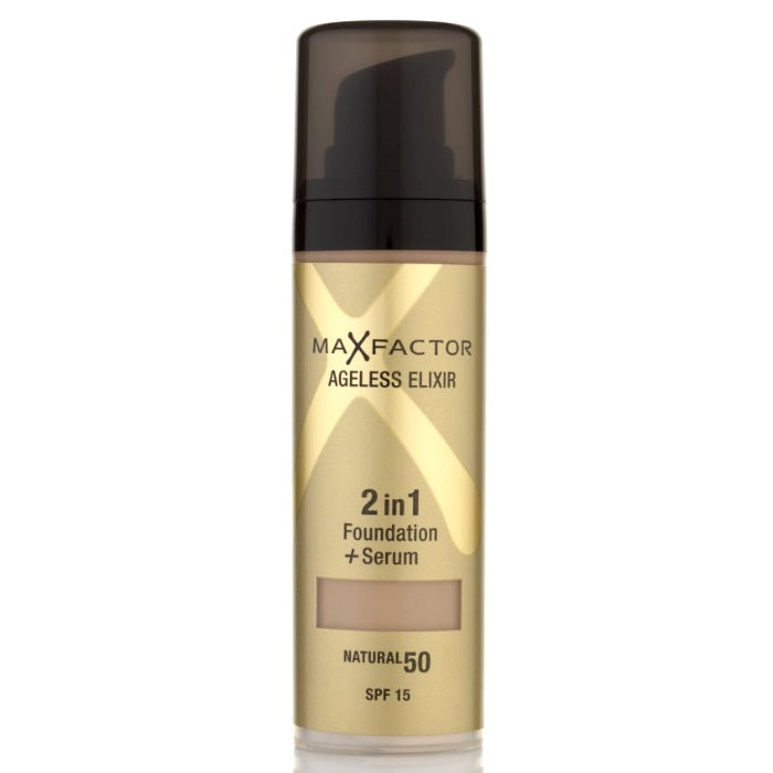 Max Factor Ageless Elixir 2in1 Foundation + Serum SPF 15 - # 30 Porcelain / Foundation + Serum | Beauty Wellbeing