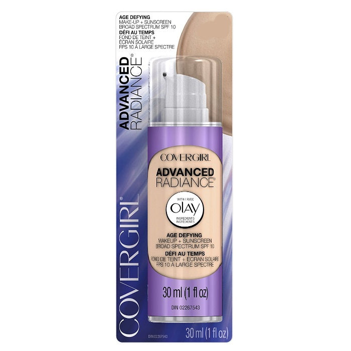 CoverGirl Advanced Radiance Age-Defying SPF 10 Foundation - # 110 Classic Ivory / Foundation | Beauty Wellbeing