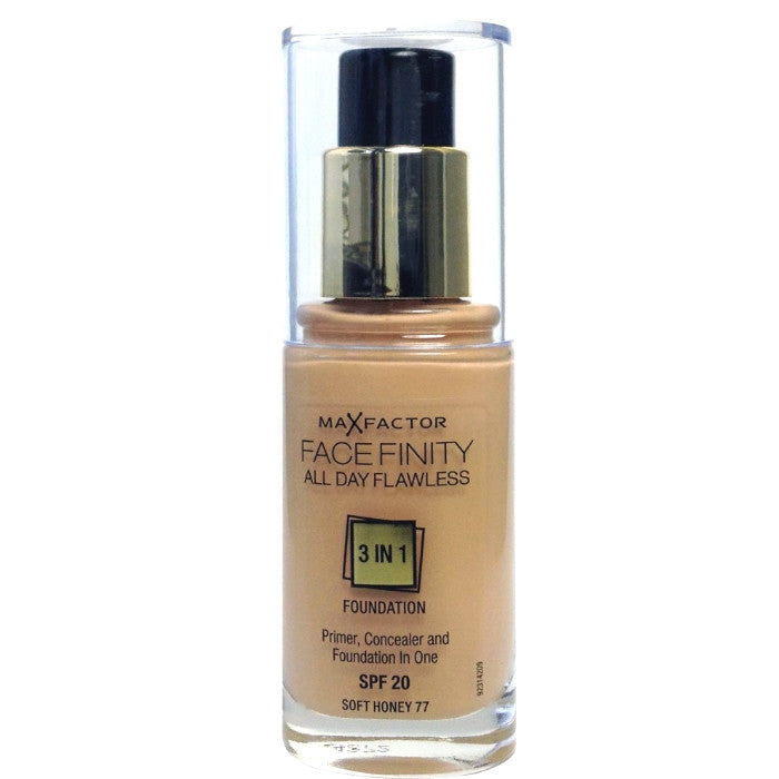 Max Factor Facefinity All Day Flawless 3 In 1 Foundation SPF20 - # 77 Soft Honey 300ml/10z / Foundation | Beauty Wellbeing